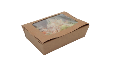 Lunch box a fenêtre kraft 1450ml